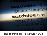 Small photo of watchdog word in a dictionary. watchdog concept, definition.