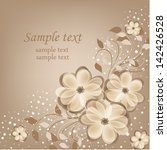 elegance pattern with flowers.... | Shutterstock .eps vector #142426528
