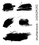 hand drawn ink brush strokes | Shutterstock .eps vector #142429192
