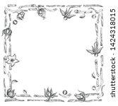 ashwagandha hand drawn border...   Shutterstock .eps vector #1424318015