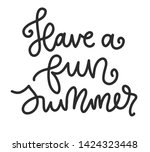 summer lettering composition.... | Shutterstock .eps vector #1424323448