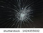 cracked black glass   broken... | Shutterstock . vector #1424355032