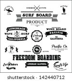 vector retro surf label set. | Shutterstock .eps vector #142440712