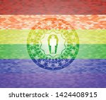 dead man in his coffin icon on...   Shutterstock .eps vector #1424408915