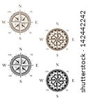 set of vintage compass signs... | Shutterstock .eps vector #142442242