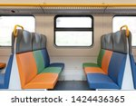 interior view of a modern train | Shutterstock . vector #1424436365