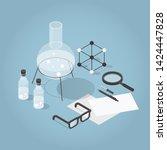 vector isometric chemical... | Shutterstock .eps vector #1424447828