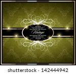 green vintage card design | Shutterstock .eps vector #142444942
