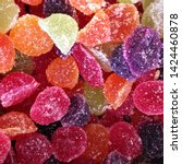 Small photo of Macro photo food dessert jelly sweets. Texture background fruit jelly sweets candies