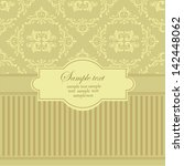 damask style. abstract vector... | Shutterstock .eps vector #142448062