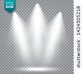 vector spotlight. bright light... | Shutterstock .eps vector #1424505218