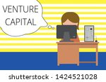 writing note showing venture... | Shutterstock . vector #1424521028