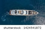 aerial photo of luxury yacht... | Shutterstock . vector #1424541872