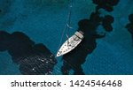 aerial photo of sail boat... | Shutterstock . vector #1424546468