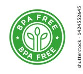 bpa free. vector logo template. ... | Shutterstock .eps vector #1424552645