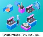 isometric vector illustration... | Shutterstock .eps vector #1424558408