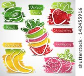 vector illustration of colorful ... | Shutterstock .eps vector #142455916