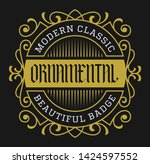 old school vintage badge... | Shutterstock .eps vector #1424597552