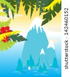 tropical islands and palm tree | Shutterstock .eps vector #142460152