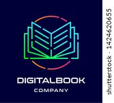 digital book vector logo....