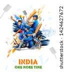 illustration of batsman player... | Shutterstock .eps vector #1424627672