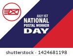 national postal worker day on... | Shutterstock .eps vector #1424681198