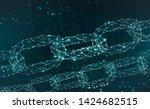 blockchain. chain of...   Shutterstock . vector #1424682515