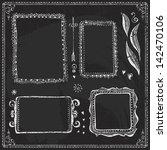 vector collection of chalkboard ... | Shutterstock .eps vector #142470106