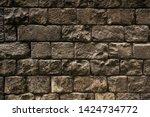 ancient wall texture. grunge... | Shutterstock . vector #1424734772