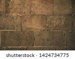 ancient wall texture. grunge... | Shutterstock . vector #1424734775