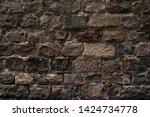 ancient wall texture. grunge... | Shutterstock . vector #1424734778