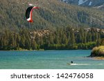 Kiteboarder At The June Lake ...