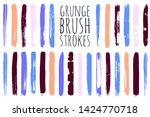 paint lines grunge collection.... | Shutterstock .eps vector #1424770718