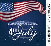 fourth of july  4th of july... | Shutterstock .eps vector #1424788052