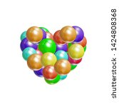 vector colorful heart icon ... | Shutterstock .eps vector #1424808368