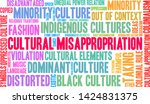 cultural misappropriation word... | Shutterstock .eps vector #1424831375