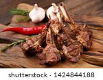 meat and grill restaurant menu. ...   Shutterstock . vector #1424844188