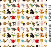 seamless animal pattern | Shutterstock .eps vector #142484848