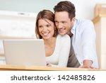 close up beautiful couple... | Shutterstock . vector #142485826