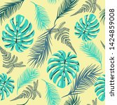 hand drawing vector pattern of... | Shutterstock .eps vector #1424859008