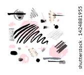 abstract poster pastel makeup...   Shutterstock .eps vector #1424881955