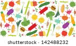 food fight illustration... | Shutterstock .eps vector #142488232