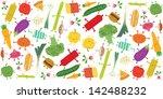 food fight illustration...   Shutterstock .eps vector #142488232