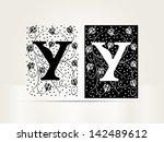 vector ornamental letter y sign ... | Shutterstock .eps vector #142489612