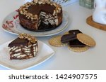 cake without baking cookies and ...   Shutterstock . vector #1424907575