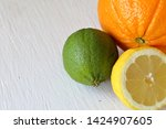 green juicy lime  orange and...   Shutterstock . vector #1424907605