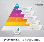 5 steps pyramid with free space ... | Shutterstock .eps vector #1424924888