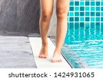 legs and foot of girl walking...   Shutterstock . vector #1424931065