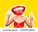 a sudden portrait of a sexy... | Shutterstock . vector #1424932892