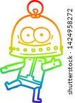 rainbow gradient line drawing... | Shutterstock .eps vector #1424958272
